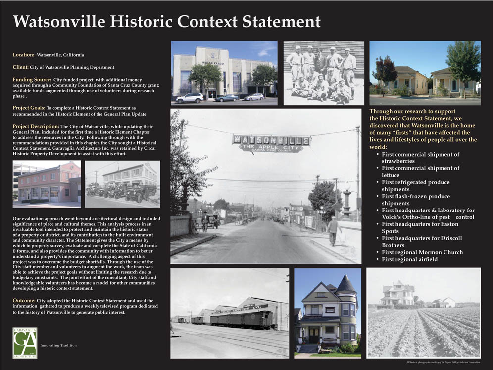 Watsonville Historic Context Statement